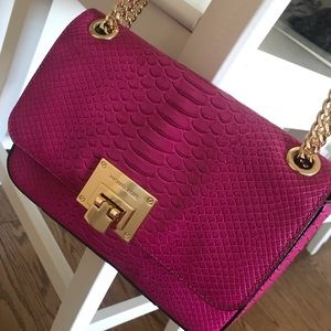 Pink Michael Kors crossbody purse
